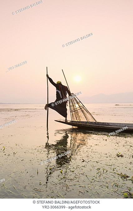 Real Inle lake fishermen , Inle lake, Myanmar