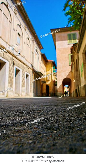 traditional pictorial streets of old italian villages. Blur focus