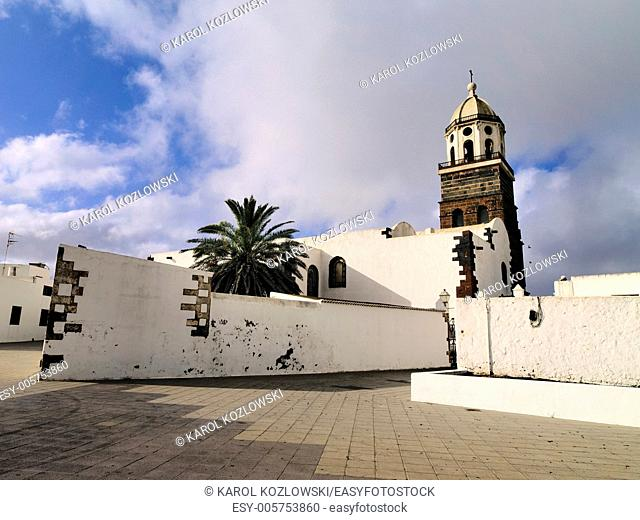 Teguise - old capital city of the island Lanzarote, Canary Islands, Spain