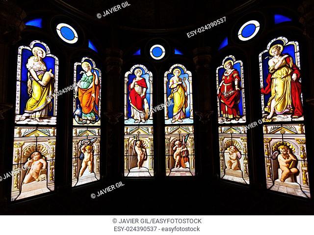 Windows in the Castle of Blois, Loire et cher, Centre, France
