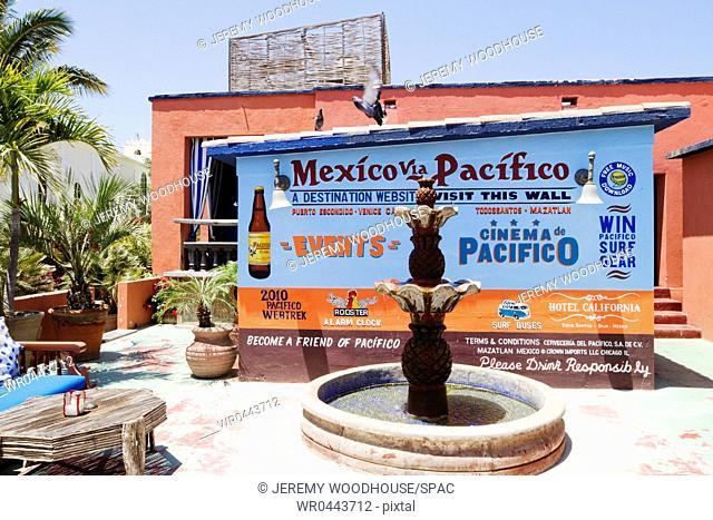 Hotel California Patio in Mexico