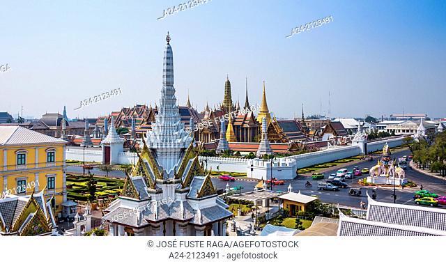 Thailand , Bangkok City, The Royal Palace, Wat Phra Kaew