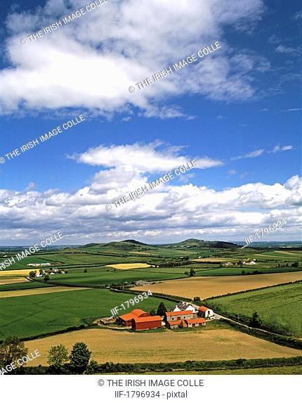 Farmland near Dunmore Castle, Co Laois, Ireland