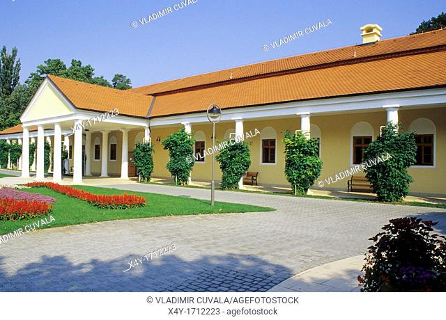 The building of Napoleon's Spa in Piestany, Slovakia