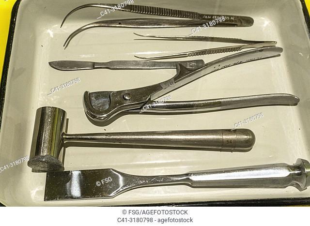 Old surgical tools. Tartu. Estonia