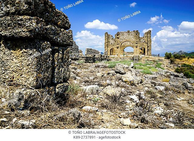 Aspendos Basilica. Ancient Greece. Asia Minor. Turkey