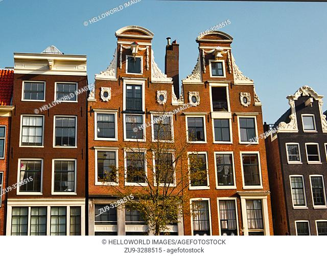 Traditional canal houses, Amsterdam, Netherlands