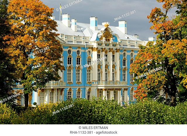 Catherine Palace, UNESCO World Heritage Site, Pushkin, near St. Petersburg, Russia, Europe
