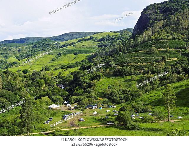 Brazil, State of Minas Gerais, Heliodora, Landscape of the mountains.