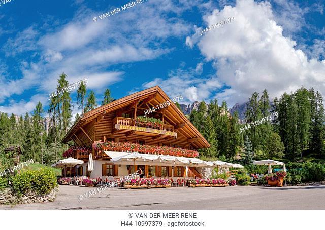Cortina d'Ampezzo, Italia, Restaurant Lago Scin