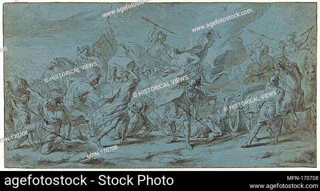 The Battle of Ajax and Hector (from the Story of Achilles). Artist: Jan van Orley (Flemish, Brussels 1665-1735 Brussels); Date: late 17th-mid 18th century;...