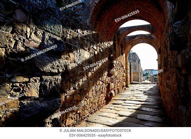 Roman Amphitheater in Merida, Spain