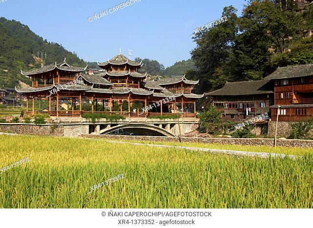 Xinjiang village, Xinjiang, Guizhou, China