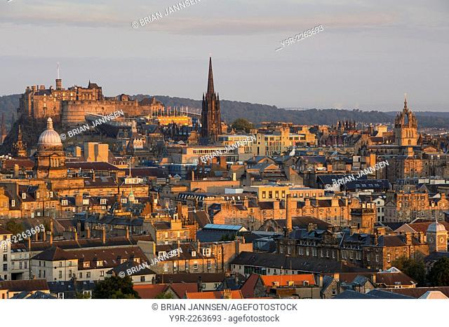 Dawn over Edinburgh, Lothian, Scotland