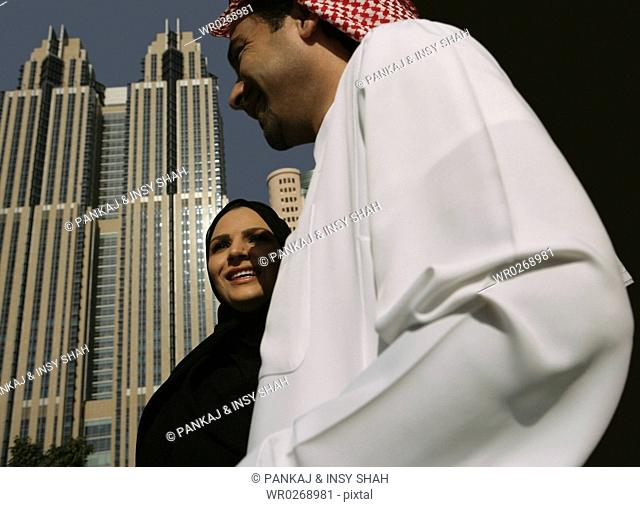 Low Angle View of the Arab Couple