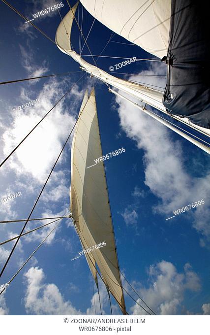 The sails of the Whitsunday Magic