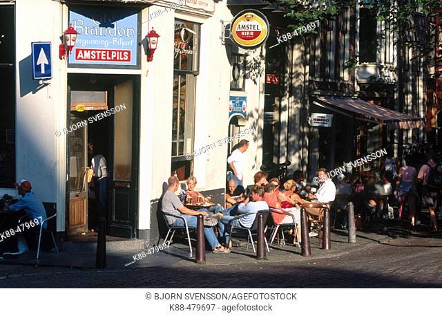 Outdoor café. Egelantiersgracht. Amsterdam, Netherlands