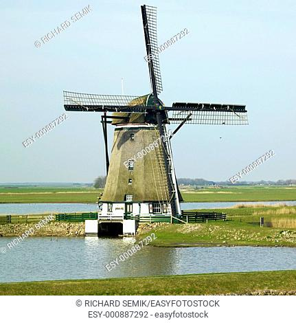 windmill, Texel Island, Netherlands