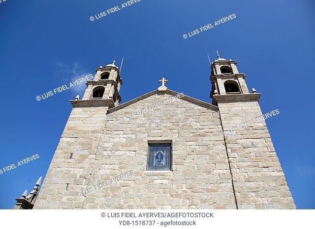 Pilgrimage church from the 17th century, Nuestra Senora de la Barca, Muxia, Spain
