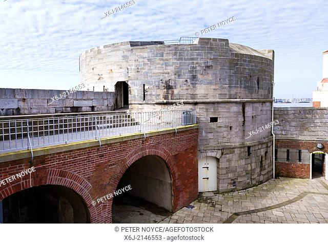 Round Tower fortification in Old Portsmouth