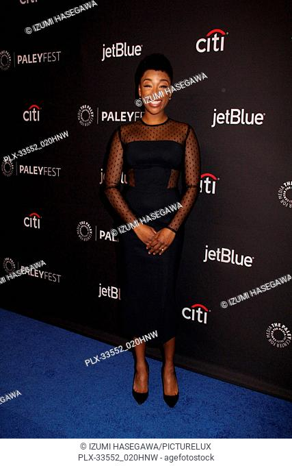 """Samira Wiley 03/18/2017 PaleyFest 2018 """"""""The Handmaid's Tale"""""""" held at The Dolby Theatre in Hollywood, CA Photo by Izumi Hasegawa / HNW / PictureLux"""