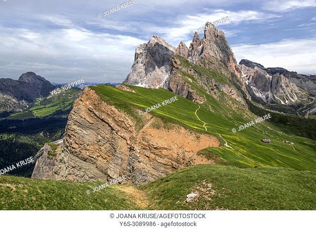 Seceda, Ortisei, South Tyrol, Dolomites, Italy, Europe