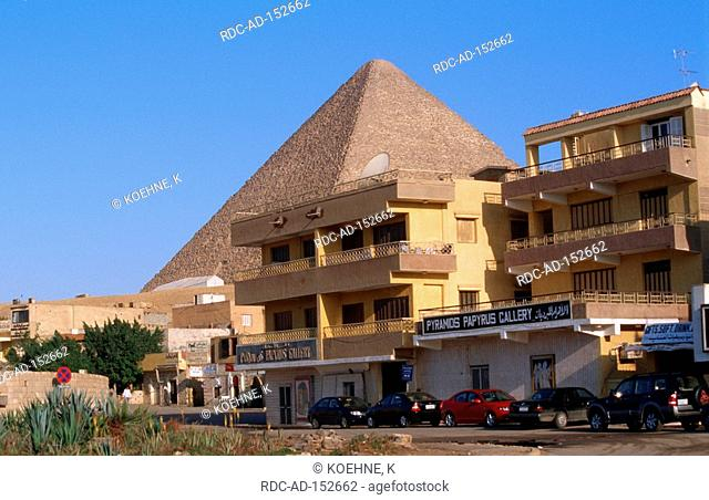 Gallery in front of Cheops Pyramid Giza Egypt Pyramids Papyrus Gallery
