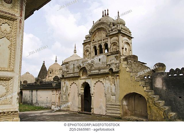Entrance gate of a Chhatri of Maharaja Parikshat, 7th Raja of Datia (1801 to 1839), Datia, Madhya Pradesh, India