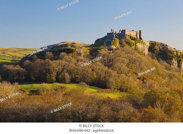 Carreg Cennen Castle, Brecon Beacons National Park, Wales, United Kingdom, Europe
