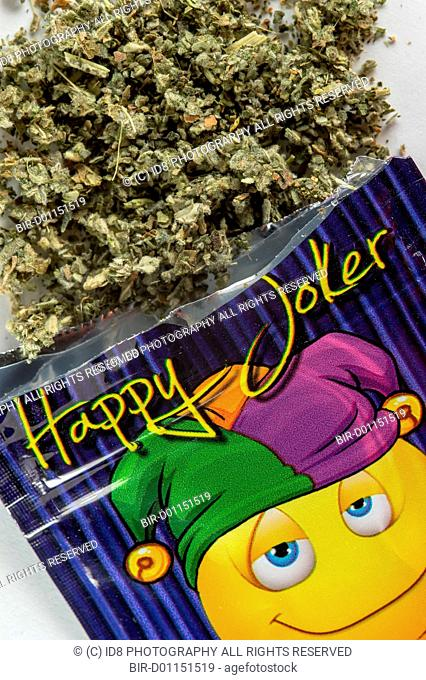 Happy Joker is synthetic cannabis, but also know as a legal high, This is any drug that mimics the effects of cannabis