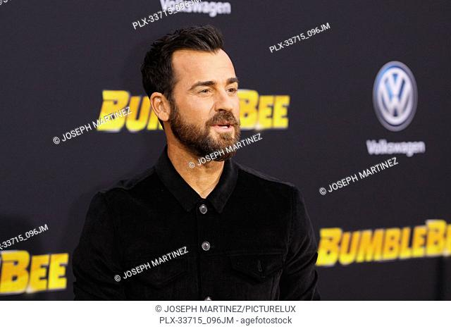 """Justin Theroux at the Premiere of Paramount Pictures' """"""""Bumblebee"""""""" held at the TCL Chinese Theatre in Hollywood, CA, December 9, 2018"""