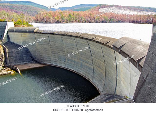 Lake Repulse dam, Tasmania, Australia