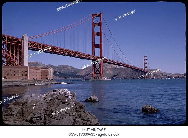 Golden Gate Bridge, San Francisco, California, USA, 1963