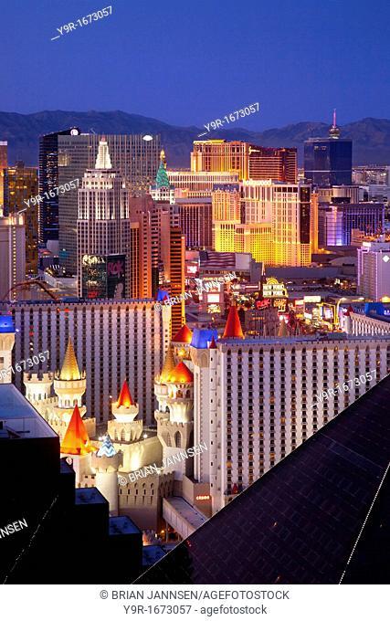 Las Vegas Skyline at twilight, Nevada, USA