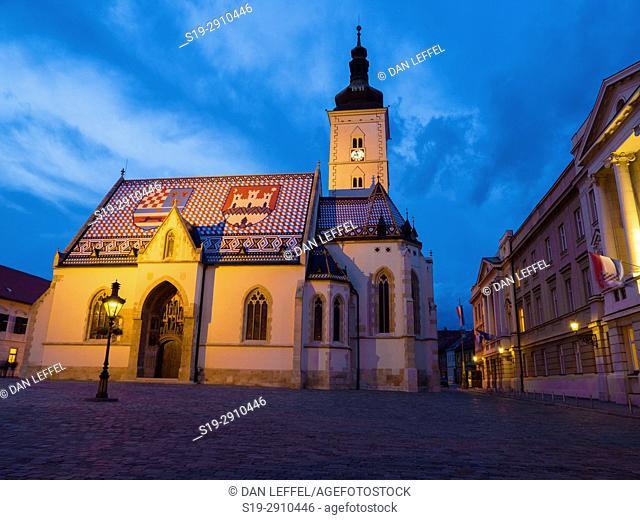 Zagreb Coatia St Marks Square