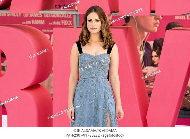 Lily James attends the European Premiere of BABY DRIVER. London, UK. 21/06/2017 | usage worldwide. - London/United Kingdom of Great Britain and Northern Ireland