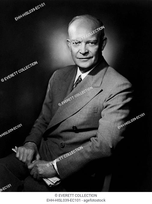 General Dwight Eisenhower. 1952 portrait by Bachrach. - (BSLOC-2014-16-51)