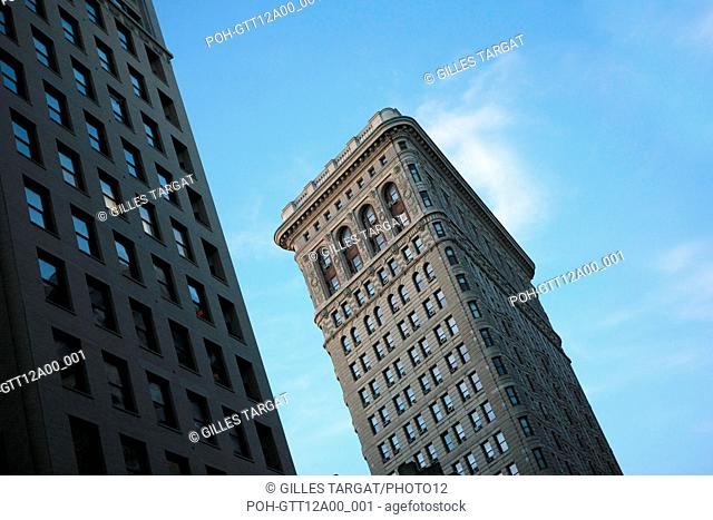 usa, etat de New York, New York City, Manhattan, Chelsea, flatiron, fer a repasser, building, Photo Gilles Targat