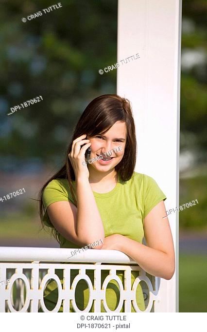 a girl talking on her cell phone