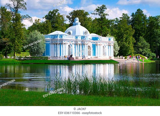 Grotto Pavilion in Catherine Park at Tsarskoye Selo (Pushkin), St. Petersburg, Russia