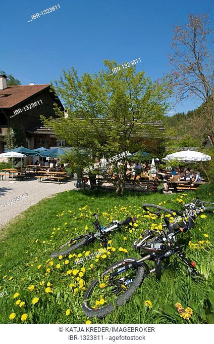 Katzbruimuehle mill near Mindelheim, Markt Rettenbach, Swabia, Allgaeu, Bavaria, Germany, Europe