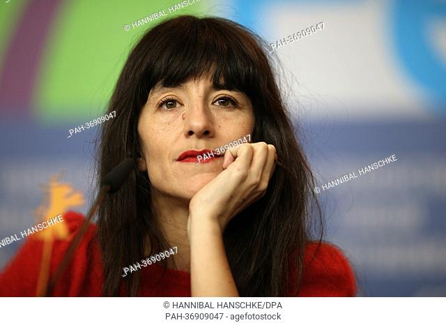 French actress Romane Bohringer attends the press conference for the movie 'Vic+Flo Saw a Bear' ('Vic+Flo ont vu un ours') during the 63rd annual Berlin...