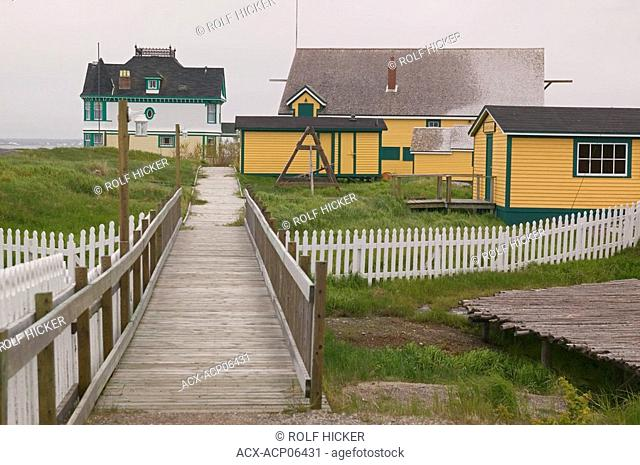Barbour Living Villiage Heritage, 'The Venice of Newfoundland', 'Road to the shore' Kittiwake Coast, Newtown, Newfoundland, Canada