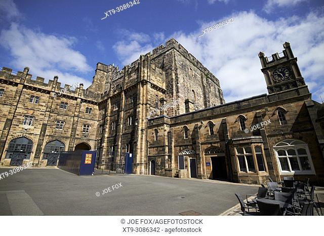 interior of lancaster castle with old debtors prison building and keep lancaster england uk