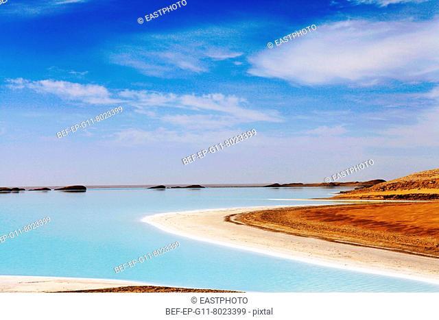 Xinjiang Salt Lake scenery