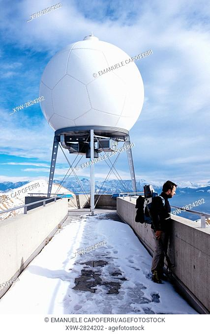 meteorological station of Monte Lema Switzerland