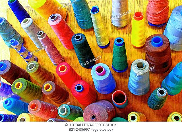 Colored sewing threads