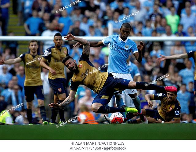 2016 Barclays Premier League Manchester City v Arsenal May 8th. 08.05.2016. The Etihad, Manchester, England. Barclays Premier League