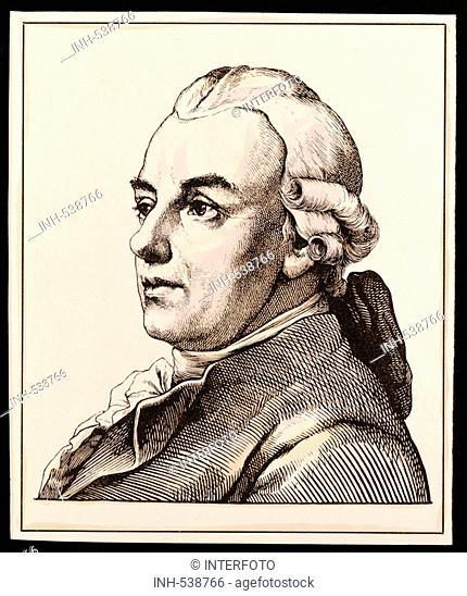 Lessing, Gotthold Ephraim, 22 1 1729 - 15 2 1781, German author / writer, portrait, engraving by Hugo Bürkner, 1854, poet, Burkner, Buerkner