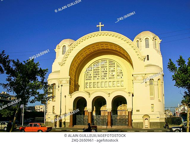 Egypt, Cairo, the Modern Heliopolis town was built by the Baron Empain at the beginning of the 20th century. The cathedral
